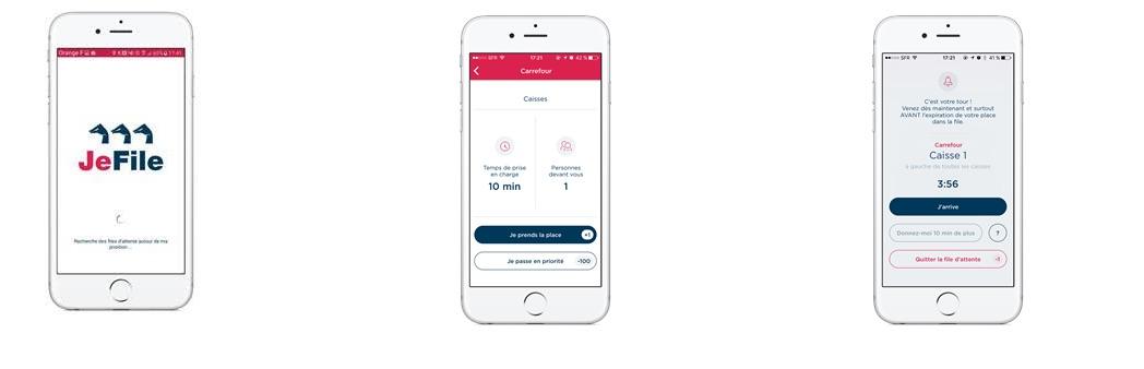 « JeFile » est une application mobile qui fait la queue à la place des clients aux caisses des hypermarchés.