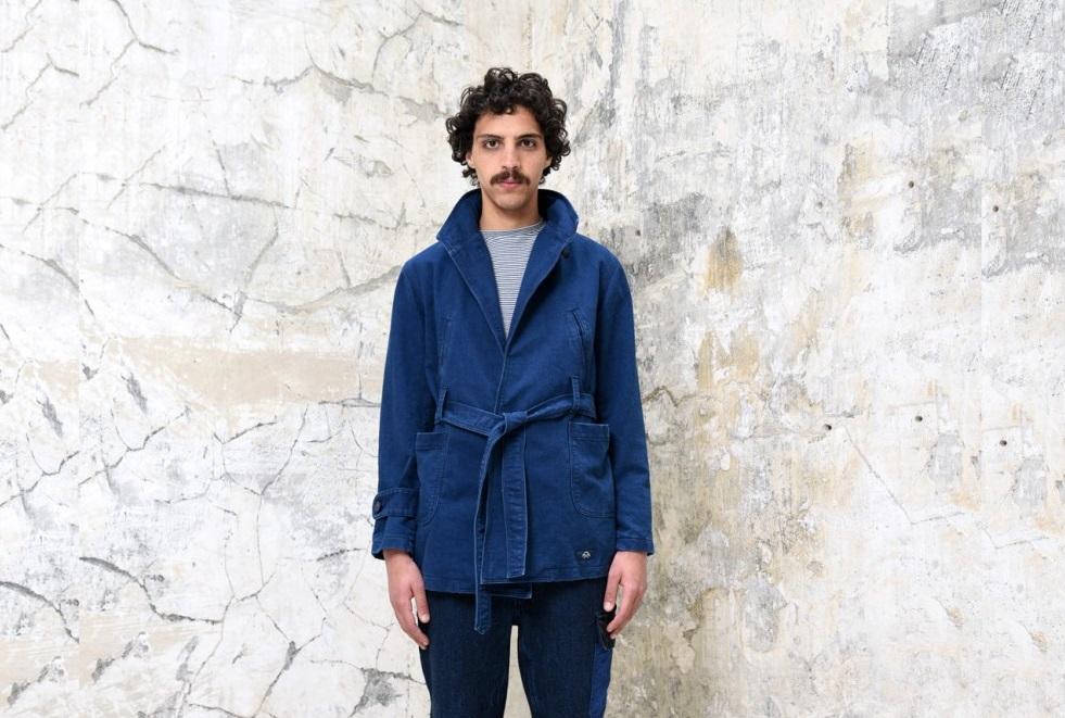 Le kimono en denim de Bleu de Paname