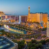 Vue aérienne de la ville de Las Vegas aux USA