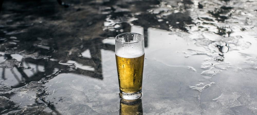 Une bière à l'eau de pluie